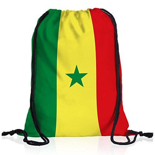 style3 Senegal Turnbeutel Rucksack Tasche Afrika Flagge WM EM Sport Beutel Festival Fahne Uni Schule Bunt