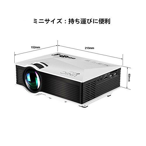 『UNIC UC46 LEDプロジェクター 1080P WIFI無線接続 1200ルーメン IOS10も対応 ホームシアター 会議用 (白)』の1枚目の画像