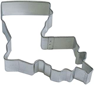 State of Louisiana Tin Cookie Cutter 3.75