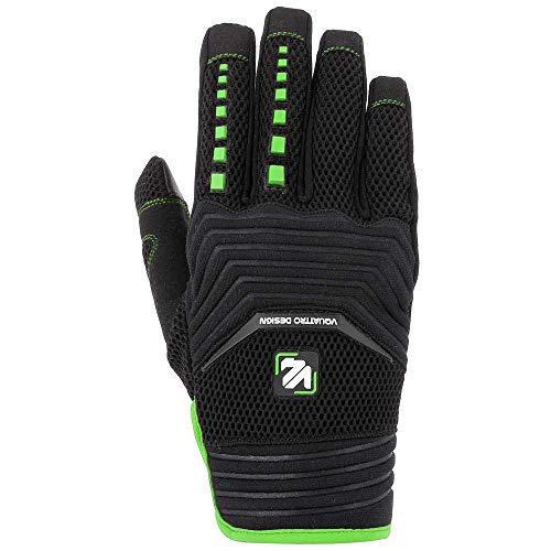V Quattro Design Mx 18 Herren-Handschuhe, Schwarz/Grün, Größe 2XL