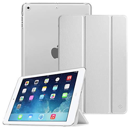 Fintie Hülle für iPad Air 2 (2014 Modell) / iPad Air (2013 Modell) - Superdünne Superleicht Schutzhülle mit Transparenter Rückseite Abdeckung mit Auto Schlaf/Wach Funktion, Silber