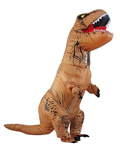 Halloween erwachsene aufblasbare T-rex Dinosaurier-Partei-Kostüm Lustige Kleid Braun