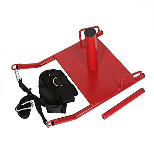 7BLACKSMITHS Power Speed Sled w/Harness&Padded Weighted Drag Sport Training Running Football Sled for Fitness Strength Training and Athletic Exercise