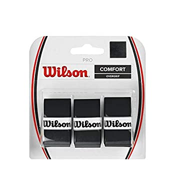 Wilson Pro Comfort Tennis Racket Overgrip Pro Comfort, Black, Pack of 3
