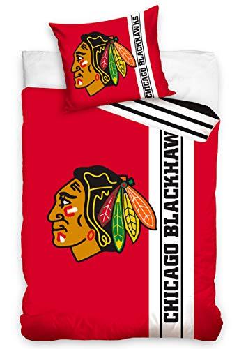 Official Merchandise Bettwäsche NHL Chicago Blackhawks Belt, 140x200 + 70x90 cm