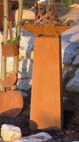 Rostikal | Deko Säule mit Pflanzschale | Blumesäule für Hauseingang und Garten | Säule 70 cm Schale 40 x 40 cm