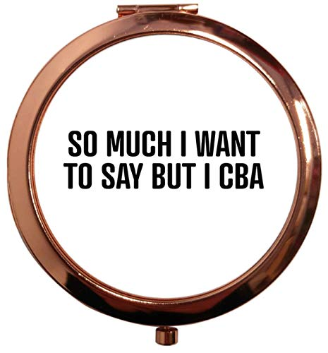 Flox Creative T-shirt carré avec miroir carré Doré Rose So Much to Say But I CBA