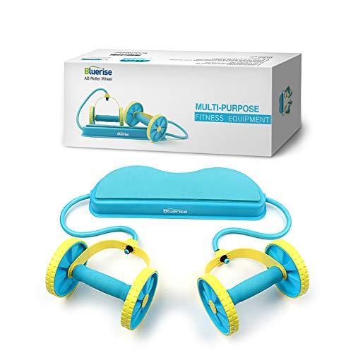 Bluerise - Rodillo de abdominales para abdominales en casa, multifuncional, fácil de usar, rodillo abdominal, sin ruido, equipo de entrenamiento abdominal, para mujer, ruedas de abdominales, máquina de abdominales, rueda abdominal, máquina