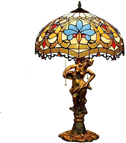 Lámpara de mesa de vidrieras hermosa de la ciudad de la ciudad para la sala de estar de la sala de estar Barra de cama de la cama regalo de boda 12 pulgadas 1-14