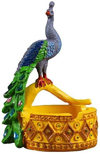 AMITD Europese stijl creatieve pauw asbak hars handwerk asbak wooncultuur roken accessoires huishouden ornamenten
