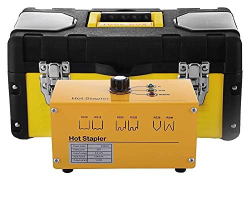 Máquina de reparación de plástico de grapadora caliente Máquina de soldadura de plástico Pistola de plástico Soldador de plástico 600 grapas 3 Configuraciones de calor 220V 20W