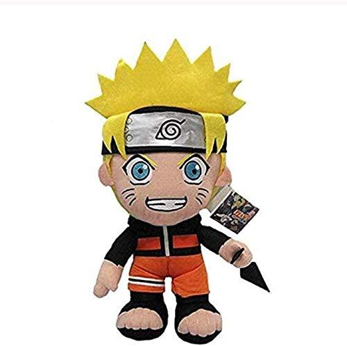 NC99 Anime Naruto Uzumaki Naruto Peluche Mueca Uzumaki Naruto Cosplay Disfraz Felpa Suave Juguetes de Peluche Regalo para Nios Nios 30cm