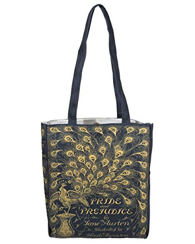 Pride and Prejudice Green Book Themed Tote Bag for Literary Lovers – Reusable Shoulder Bag for Women by Well Read for Book Lovers