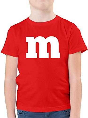 Karneval & Fasching Kinder - Gruppen-Kostüm m Aufdruck - 140 (9/11 Jahre) - Rot - kostüm Kinder Jungen - F130K - Kinder Tshirts und T-Shirt für Jungen
