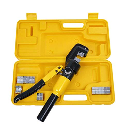 10 Ton Hydraulic Wire Crimper Battery Cable Lug Terminal Crimping Tool With 9 Dies