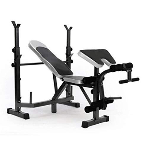 LZL Banc d'entraînement Squat Stands Rack, Banc Libre-Press Gym Equipment 661LBS Accueil Max LoadAdjustable Squat Barbell Bar en Veille Banc de Musculation Banc de Musculation (Color : Black)
