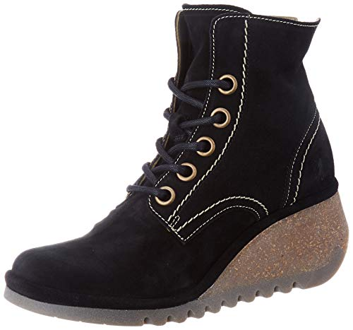 FLY London Nure195fly, Botas Militar para Mujer, Negro (Black 000), 40 EU