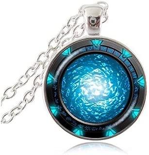 Infinity Stargate Portal Atlantis Necklace Star Space Jewelry Universe Necklace Fashion Handmade Necklace