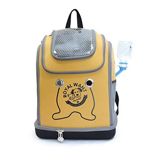 TOMSSL Haustier Tasche Hund Rucksack Katze Tasche Falten atmungsaktiv Cat Cage Teddy Handtasche Heimtierbedarf (Farbe : Yellow)