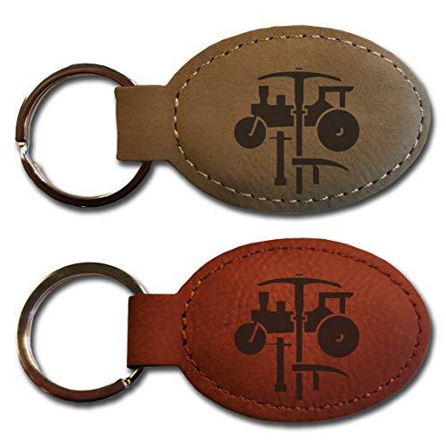 elbedruck Schlüsselanhänger mit Gravur Zunftwappen Straßenbauer Zunft Zunftlogo (rotbraun)