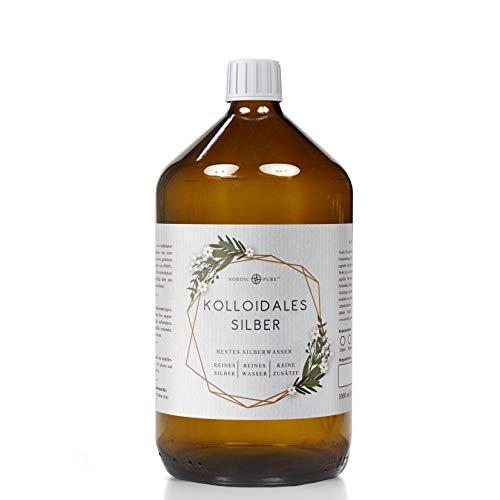 Kolloidales Silber/Silberwasser (50-100 ppm) von Nordic Pure (1000ml | 100 PPM)