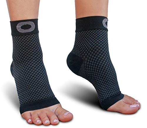 Plantar Fasciitis Sock with Arch Support for Men & Women - BEST Ankle Compression Socks for Foot and Heel Pain Relief - Better than Night Splint Brace, Orthotics, Inserts, Insoles (XXL, Black)