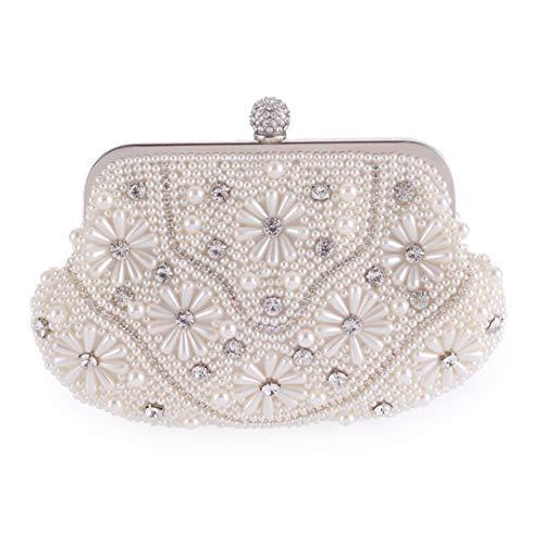 Floral Pearl Bags Dinner Banquet Bride Wedding Dress Crossbody Bags Ladies Luxury Rhinestone Shoulder Bag 20 25 12(top BTM hi)