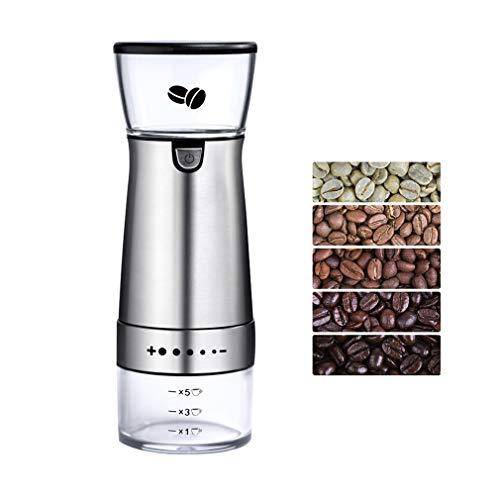ZXX. Kaffeemühle, elektrische Handgratmühle mit Einstellbarer Grobheit, für ganze Kaffeebohnen, Gewürze, Kräuter, Pfeffer, Salznüsse