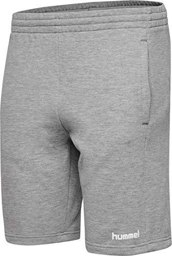 hummel Damen HMLGO Cotton Bermuda Woman Shorts, Grau Melange, L