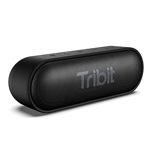 [Upgraded Version]Tribit XSound Go Wireless Bluetooth Speakers with Loud Stereo Sound & Rich Bass 16W,24H Playtime,Bluetooth 5.0,100 ft Bluetooth Range,Outdoor Lightweight IPX7 Waterproof,Built-in Mic