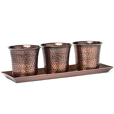 H Potter Succulent Herb Flower Garden Window Box Planter Pots Indoor Outdoor Antique Copper