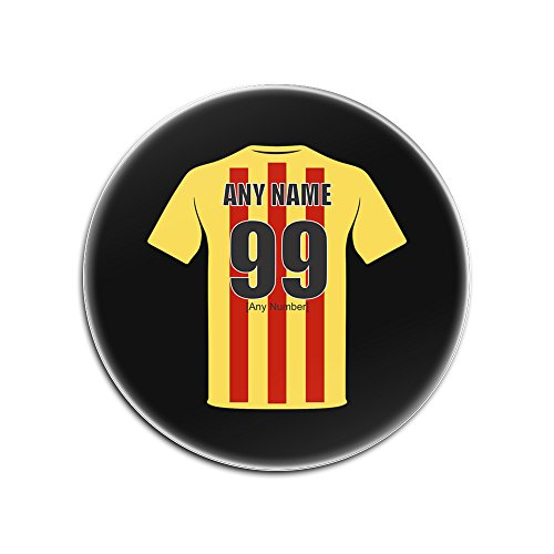 Personalised Gift - Partick Thistle Round Gloss Hardboard Coaster (Football Club Design Theme, Colour Options) - Any Name / Message on Your Unique Mat Pad - The Jags Harry Wraggs Maryhill Magyars