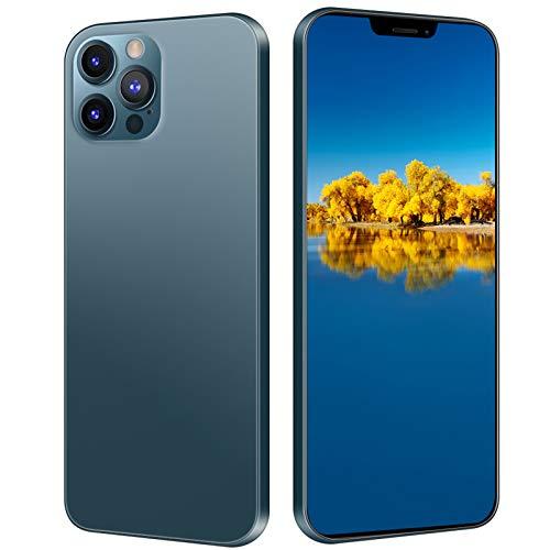 Garsentx Smartphone Desbloqueado con Pantalla Táctil 6.26 Pulgadas, Desbloqueo Facial | Modo Espera Tarjeta Dual | 1+8GB | 480x1014 Resolución | 2G+3G | 2400 MAh, Teléfono Móvil con Carcasa(Armada)