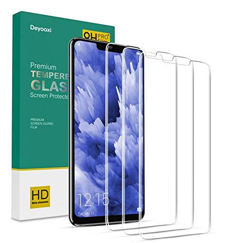 Deyooxi Protector de Pantalla para Huawei Mate 20 Lite,3 Unidades Cristal Vidrio Templado Pantalla Protectora para Huawei Mate 20 Lite,Alta Definicion,Transparente