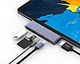 RAYROW USB C Hub for iPad Pro 2020 2018 iPad Air 4, 6 in 1 USB C ipad Adapter with USB 3.0, SD/TF Card Reader, 3.5mm Headphone Jack, PD Charging, 4K HDMI iPad Pro 11'/12.9' & MacBook Pro