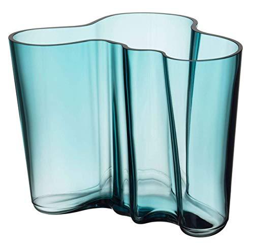 Iittala Alvar Aalto - Jarrón (Cristal, 160 mm), Color Azul Marino
