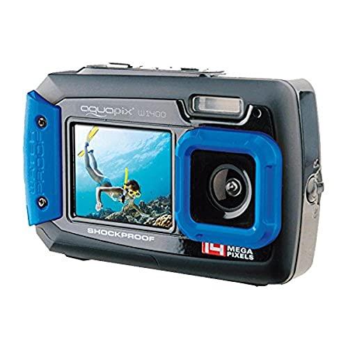 "EasyPix W1400 Cámara Digital Activa 3m a Prueba de Agua, 14 Mpx CMOS, LCD de 2.7"", Azul-Negro"