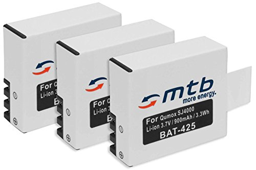 3 baterías para Qumox SJ4000, SJ5000, SJ6000 / SJCam M10 / BOOMYOURS