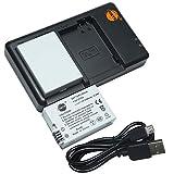 DSTE 2PCS LP-E8(2100mAh/7.4V) Batería Cargador Compatible para Canon EOS 550D 600D 650D 700D Kiss X4 Kiss X5 Kiss X6i X7i Rebel T2i T3i T4i T5i Digital Cámara