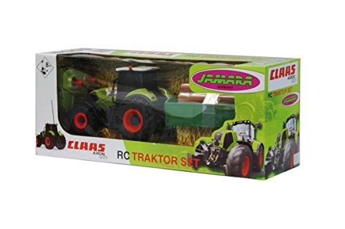 RC Auto kaufen Traktor Bild 2: Jamara 403702 - RC Claas Axion 850 1:28 mit Holzanhänger inklusive Fernsteuerung*