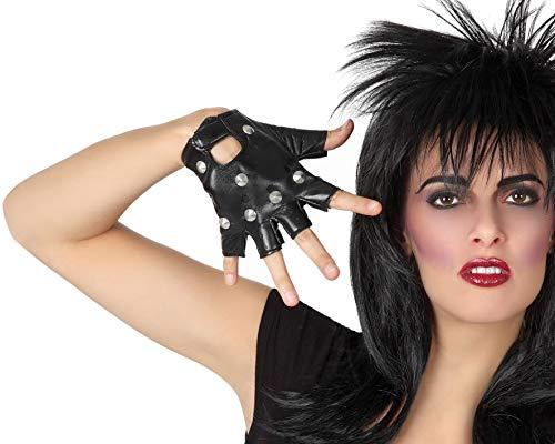 Atosa-56708 Atosa-56708-Accesorio-Guantes Cortos Sin Dedos Mitones Rock Punk Negro, color, Talla nica (56708)
