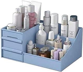 Large Cosmetic Storage Box Drawer Type Makeup Organizer - Display Jewelry Nail Polish Makeup Container Desktop Organizer Blue