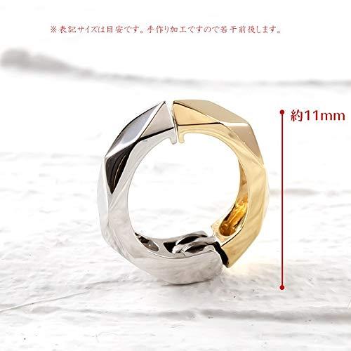 [アトラス]Atrusイヤリングレディースピアリング10金イエローゴールドk10ホワイトゴールドk10リバーシブルカット地金フープイヤリング
