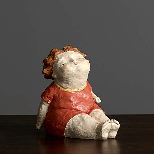 Statues Sculpture Figurines Statuettes,Kreative Harz Schöne Rote Dicke Frauen Puppe Bild Kunst Figur Skulptur Sammlerstücke, Schmuck Desktop Handwerk Kunst Dekor Statuetten Für Innen Aus Wohnzimm