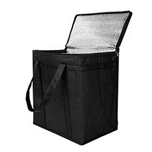 Gidenfly Bolsa de transporte portátil de papel de aluminio no tejido de aislamiento plegable Picnic bolsa de hielo Bolsa térmica de bebidas Bolsas aisladas para alimentos fríos o calientes