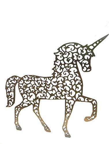 KS Metal-Art Einhorn/Gartendeko / Gartenstecker/Gartenfigur (L (93x88cm))