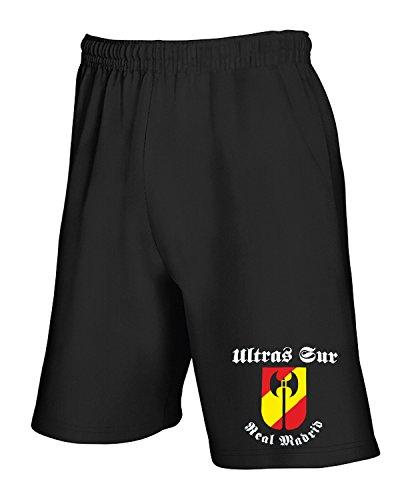 Pantalones Deportivos Cortos Negro TUM0031 Ultras Sur Real Madrid