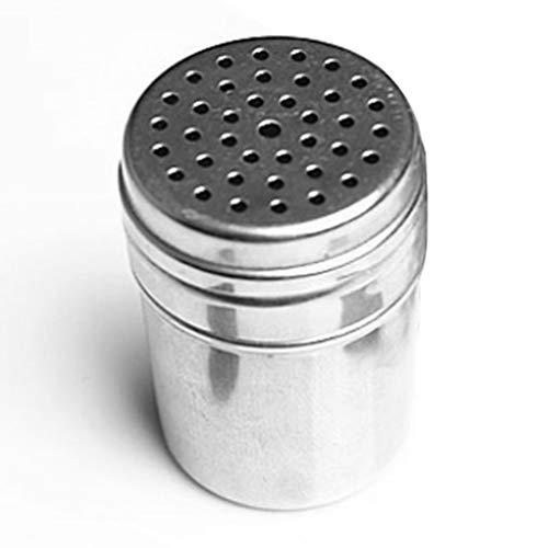 Set di barattoli di spezie per condimenti e ampolla in Acciaio Inossidabile con saliera e pepiera Argento
