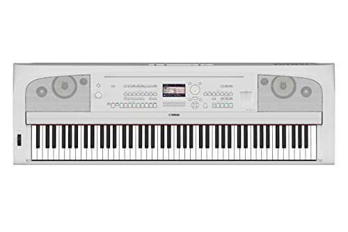 Yamaha DGX670WH 88-Key Weighted Digital Piano, White (Furniture Stand Sold Separately)