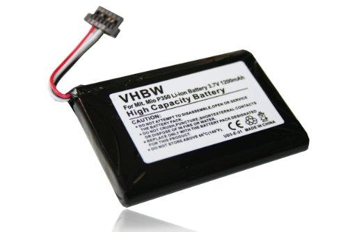 vhbw Akku passend für Becker Professional 50 LMU ersetzt 541380530006, BL-LP1230, 11-D00001 U, 541380530005, BP-LP1200/11-D0001 MX (1200mAh, 3,7V)